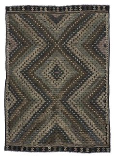 Vintage Turkish Kilim with Mid-Century Modern Design | From a unique collection of antique and modern turkish rugs at https://www.1stdibs.com/furniture/rugs-carpets/turkish-rugs/