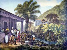 Rugendas - INDIENS DANS UNE PLANTATION - 1824