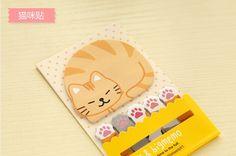 Journaling Spot  Sticky Memo  Sleepy Cat  6 x 20 by zakkalover