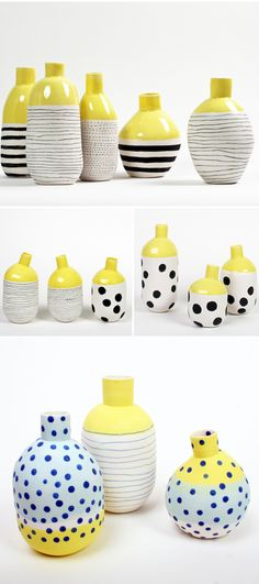 Newest Free pottery designs home decor Thoughts Vases – Home Decor : éric hibelot & jean-marc fondimare Ceramic Pots, Ceramic Clay, Ceramic Painting, Ceramic Pottery, Pottery Painting Ideas, Painting Vases, Painted Pottery, Painted Pots, Cerámica Ideas