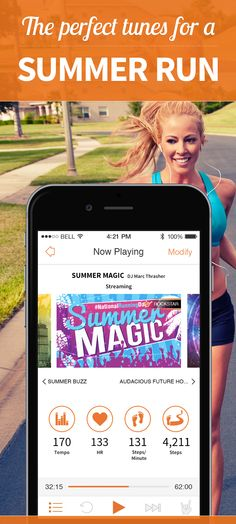 Awesome music mixes from the RockMyRun app. Don't think, just run.