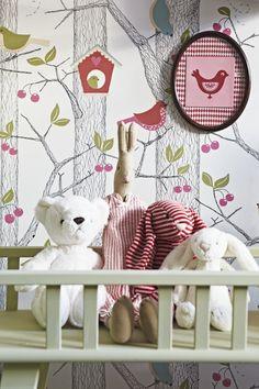 BorasTapeter 2652 x m Tapete Lilleby Kids Room Murals, Wall Murals, Bird Boxes, Room Posters, Designer Wallpaper, Wallpaper Designs, Kid Spaces, Baby Room, Child Room