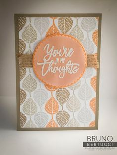We can't get enough of this gorgeous color combination featured on this card made with the Thoughtful Branches bundle! Cute Cards, Diy Cards, Your Cards, Card Making Inspiration, Making Ideas, Fall Cards, Holiday Cards, Card Sayings, Hand Stamped Cards