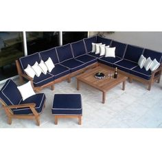 Miami Teak Sectional Outdoor Furniture by Royal Teak Collection Do you have a large or small outdoor area, and traditional patio furniture collections ju Outdoor Garden Furniture, Outdoor Decor, Sectional Patio Furniture, Outdoor Sectional, Family Leisure, Outdoor Loungers, Miami, Diy Patio, Teak