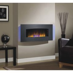 """Classic Flame Harmony Wall Mount Electric Fireplace  19.37"""" H x 40.39"""" W x 8.66"""" D $324.99"""