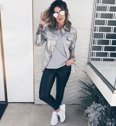 Dope Outfits, Chic Outfits, Fashion Outfits, Look Casual Chic, Casual Looks, Cute Fashion, Look Fashion, Winter Fashion, Look Legging