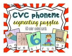60 #CVC #segmenting cards that you can cut apart to make #puzzles.