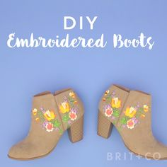 Upgrade a pair of boots with some embroidery by following this style DIY video tutorial.