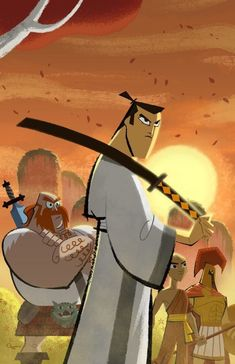 Another Cartoon Network classic–Samurai Jack was such an intense show with so much action exceeding the age rating's standards. I did not even know that Jack was just the samurai's alias; I have to admit that he is even cool for having no name. Cartoon Shows, Cartoon Art, Cartoon Characters, Cartoon Memes, Cartoon Drawings, Comic Anime, Comic Art, Manga Anime, Old Cartoons