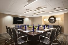 Two of our 12 breakout rooms are boardrooms with permanent tables. www.wyndhamgrandchicagoriverfront.com
