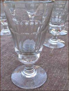 Verres à pied Cristal Taillé 1920
