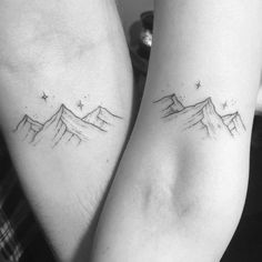 Matching Mountain Tattoos by Peta-Jane Heffernan