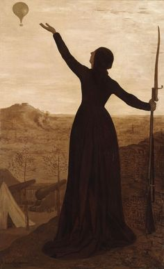 Pierre Puvis de Chavannes, 1871, The Balloon. Art Experience NYC www.artexperiencenyc.com