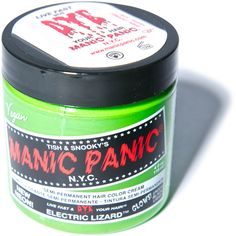 Manic Panic Electric Lizard Classic Hair Dye ($14) ❤ liked on Polyvore featuring beauty products, haircare, hair color, hair, hair dye, makeup, beauty, dye ve filler