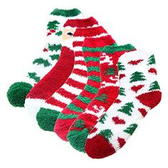 Aivtalk Womens Christmas Holiday Striped Fuzzy Socks Crew Socks Warm Butter Soft 6 Pair Pack * To view further for this item, visit the image link. (This is an affiliate link) Fluffy Socks, Christmas Holidays, Womens Christmas, Amazon Christmas, Christmas Morning, Cute Socks, Women's Socks & Hosiery, Christmas Stockings, Christmas Clothing