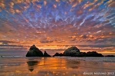 SUNSET AT SEAL ROCKS - Photograph at BetterPhoto.com