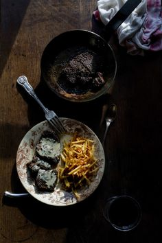 Black Pepper Steak with Cognac Cream Sauce & Pommes Allumettes | Manger