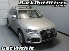 Audi Q5 Thule Rapid Podium BLACK AeroBlade Base Roof Rack '07-'14