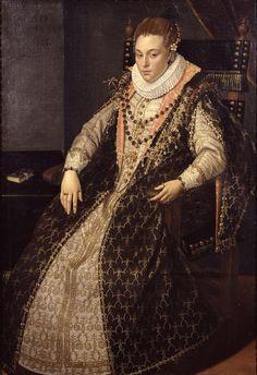 Giovan Paolo Lombo (Bergamo? 1550 circa -1595) - Ritratto di Donna - 1588-1590 circa - Accademia Carrara di Bergamo Pinacoteca - percorso Moda