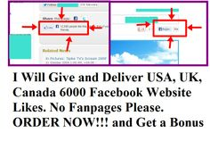 traffic_solo: give and Deliver Usa, UK, Canada 6000 Facebook Website Likes, Not For Fanpages for $5, on fiverr.com
