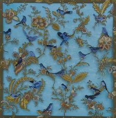 Cumberland Gallery Billy Renkl Untitled (Wallpaper with Blue Birds) 3d Collage, Artist At Work, Blue Bird, Birds, Map, Wallpaper, Gallery, Artwork, Painting