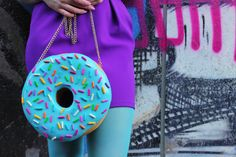 Donut Jewelry Purse Doughnut Donuts Food Jewelry Accessories Candy Blue Bag Clutch Purse Design Designer Rommydebommy Cute Kawaii Sprinkles