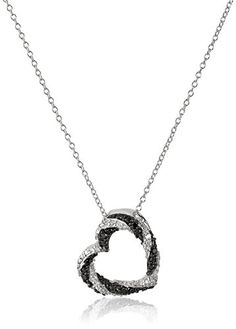 Sterling Silver Black and White Diamond Open Heart Pendant Necklace (1/5 cttw, J-K Color, I2-I3 Clarity)by Amazon Collection - See more at: http://blackdiamondgemstone.com/jewelry/necklaces/pendants/sterling-silver-black-and-white-diamond-open-heart-pendant-necklace-15-cttw-jk-color-i2i3-clarity-com/#sthash.Slsf1WBN.dpuf