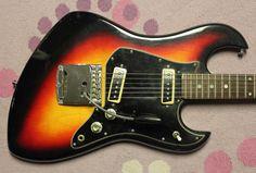 1966 Tempo Guitar, Bizarre Japan (Teisco, Kawai) Exc. Condition #Tempo #MIJ #Matsumoku #Teisco #Univox #Merson