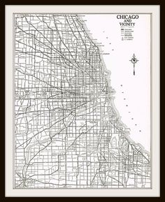 Antique Map - CHICAGO ILLINOIS  1940 by KnickofTime