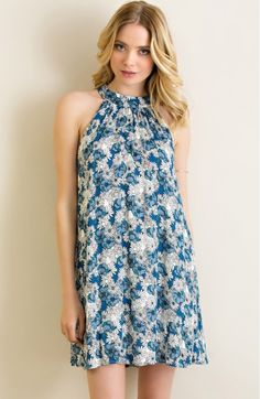 Baby blue, floral print subscription sun dress | Shop this product here: http://spreesy.com/glitterandglowpriceville/116 | Shop all of our products at http://spreesy.com/glitterandglowpriceville    | Pinterest selling powered by Spreesy.com