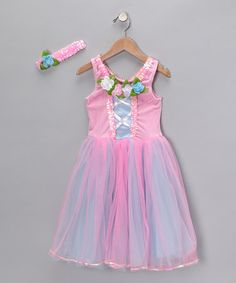 Take a look at this Pink Rose Ruffle Dress & Headband - Toddler & Girls by My Princess Academy on #zulily today!