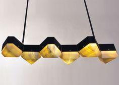 Vega Linear Six Chandelier by Matthew Fairbank Design