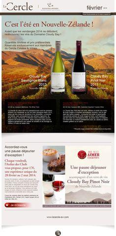 Le Cercle - Estate & Wines newsletter de février 2014 Création FAT4