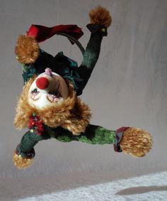 Lou Lou acro-bear Created by Nicole Woodward pic-nic-bears Soft Sculpture, Sculptures, Acro, Bears, Picnic, Christmas Ornaments, Holiday Decor, Create, Artist