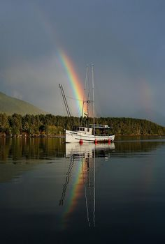 Alaska Fishing Boat - Technicolor Rainbows.  via Etsy.