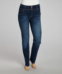 Take a look at this Electric Blue Jeans - Plus by VIP Jeans on #zulily today!