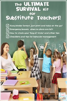 Ultimate Survival Kit for Subbing! Over 120 pages of tips, behavior management resources, activities, and more!