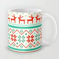Society6 - Festive Fair Isle Mug by Tracie Andrews Society6