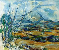 Montagne Sainte-Victoire by Paul Cezanne. Handmade oil painting reproductions for sale, Always custom made on premium grade canvas by talented artists. Cezanne Art, Paul Cezanne Paintings, Guache, Paul Gauguin, Oil Painting Reproductions, French Art, Pablo Picasso, Art Google, Art World