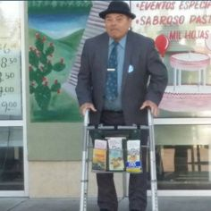 This faithful brother in Oregon, USA has his own special way of cart witnessing!