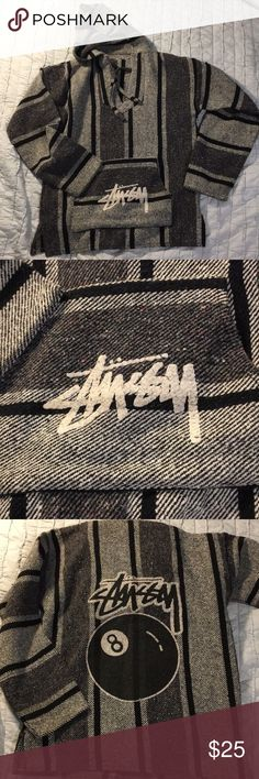 Stussy Baja Pullover Re-posh. Listed as a large but fits like a medium. Very cute to wear to beach with cutoff shorts! Nice and warm! Very good condition. Stussy Jackets & Coats
