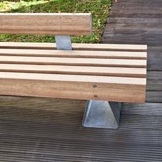 STREETLIFE R&R 5 Benches with optional backrest and armrests. #StreetFurniture #UrbanDesign #UrbanBench