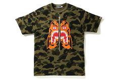 BAPE® 1ST CAMO TIGER TEE Bape Shirt, T Shirt, Gucci Outfits, Hypebeast, Camo, Tees, Mens Tops, Fashion, Streetwear Men