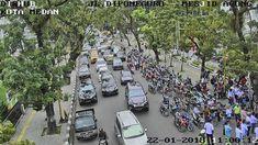 Arus Lalu Lintas Jalan Kartini Siang Ini Terpantau Macet - Jalan Kartini menuju Diponegoro terpantau macet, Tengah Hari,Senin (22/1/2018)