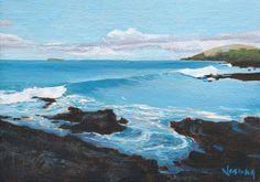 Tropical island surf waves Makena Beach waves Maui, Hawaii on Etsy, $75.00