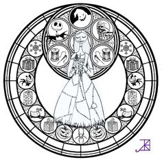 Princess Stained Glass Coloring Pages Through The Thousand