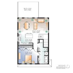 Plan de maison unifamiliale Ozias 3 (W3954-V2) | Dessins Drummond