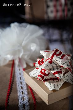 wax paper bows