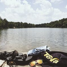 """Going for a dip in Oak Mountain State Park, AL with Teva and the girls."" - Honey & Silk"