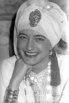 Loulou de la Falaise on her wedding day